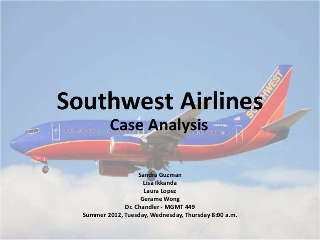 southwest airlines a case study case study - southwest airlines 2011 essay sample southwest airlines was founded in texas in 1971 as a small, regional intra-state carrier they chose to service the golden triangle of houston, dallas, and san antonio.