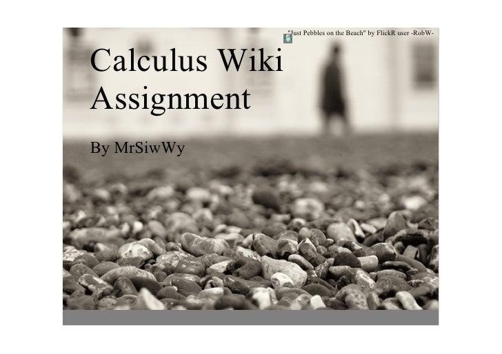 JustPebblesontheBeachbyFlickRuserRobW     CalculusWiki Assignment ByMrSiwWy