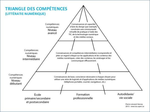 TRIANGLE  DES  COMPÉTENCES   (LITTÉRATIE  NUMÉRIQUE)