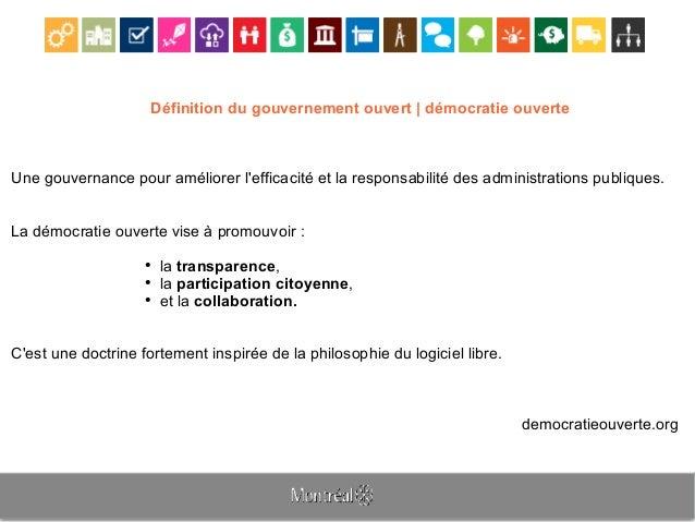 Définition du gouvernement ouvert | démocratie ouverte Une gouvernance pour améliorer l'efficacité et la responsabilité de...