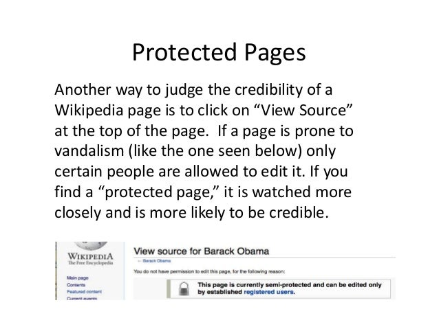 Wikipedia:Credibility