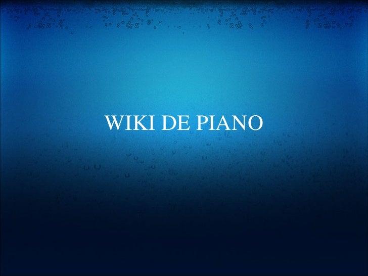 WIKI DE PIANO