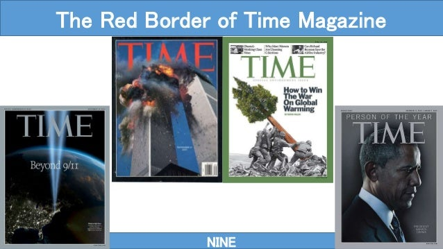 NINE The Red Border of Time Magazine