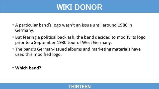 • A particular band's logo wasn't an issue until around 1980 in Germany. • But fearing a political backlash, the band deci...
