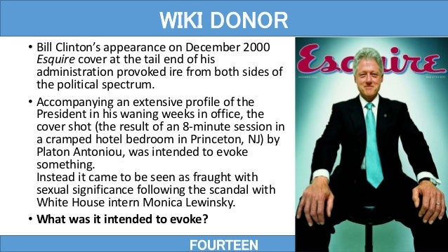 • Bill Clinton's appearance on December 2000 Esquire cover at the tail end of his administration provoked ire from both si...