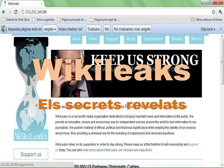 Wikileaks<br />Els secrets revelats<br />