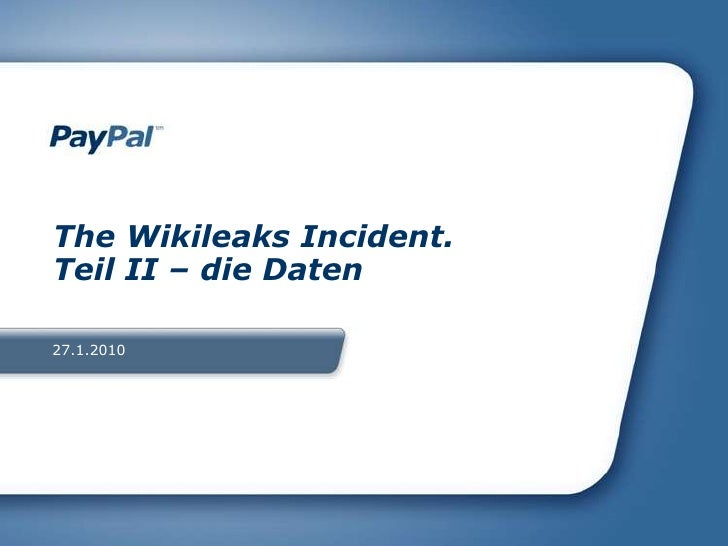 27.1.2010<br />The WikileaksIncident. Teil II – die Daten<br />