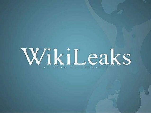# O Wikileaks é uma organização sem fins lucrativos que trouxe um novo fôlego ao Jornalismo Investigativo. # Foi criado pe...