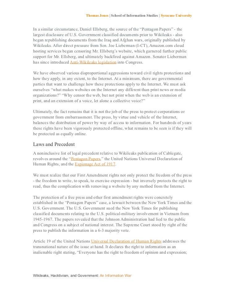 Wikileaks essay Homework Example