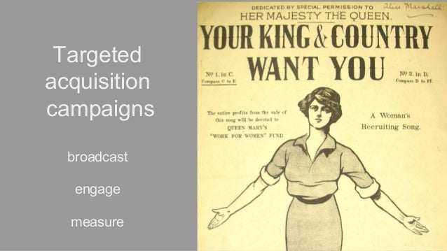 Targeted acquisition campaigns broadcast engage measure
