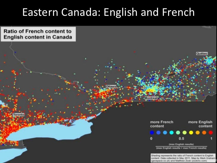 Eastern Canada: English and French<br />