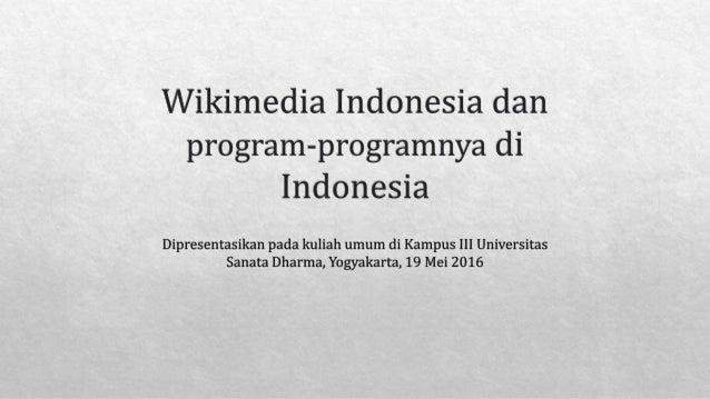 Wikimedia Indonesia dan proyek-proyeknya