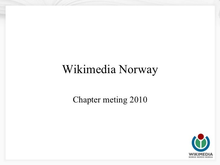Wikimedia Norway Chapter meting 2010