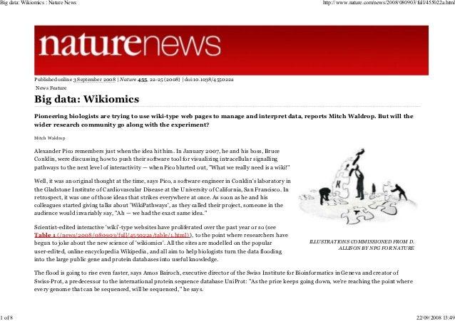 Big data: Wikiomics : Nature News                                                                                         ...
