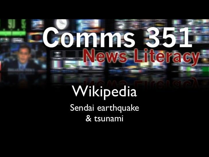 WikipediaSendai earthquake   & tsunami