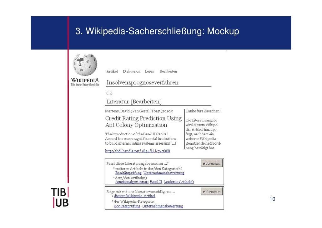 3. Wikipedia-Sacherschließung: Mockup                                        10