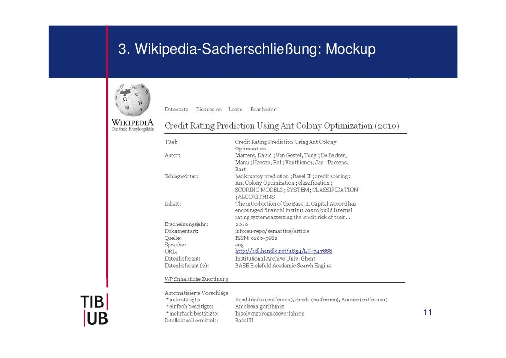 3. Wikipedia-Sacherschließung: Mockup                                        11