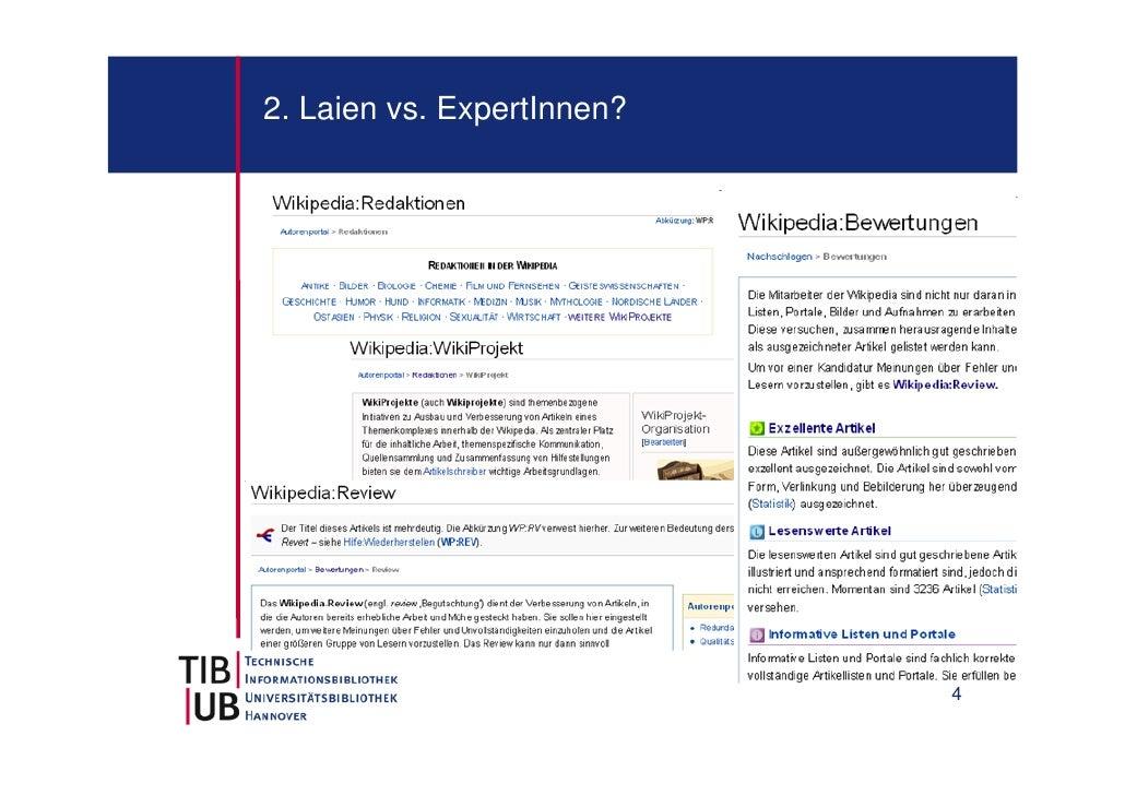 2. Laien vs. ExpertInnen?                            4
