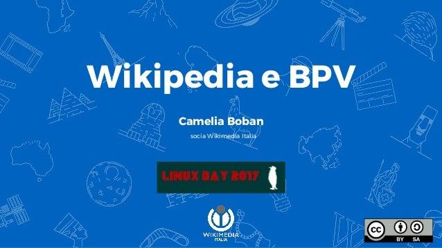 Wikipedia e BPV Camelia Boban socia Wikimedia Italia