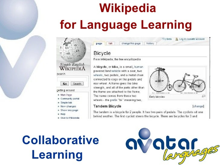 Collaborative Teaching Wikipedia ~ Wikipedia for language learning