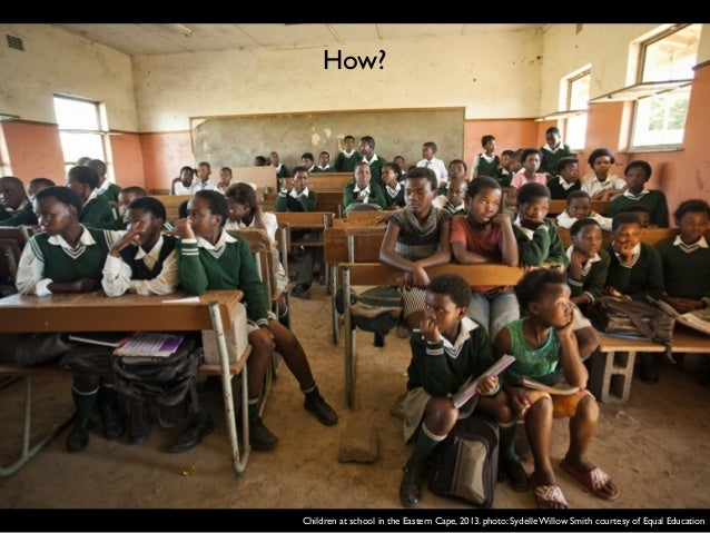 Children at school in the Eastern Cape, 2013. photo: Sydelle Willow Smith courtesy of Equa