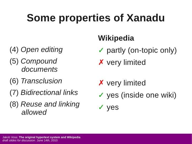Some properties of Xanadu                                                           Wikipedia      (4) Open editing       ...