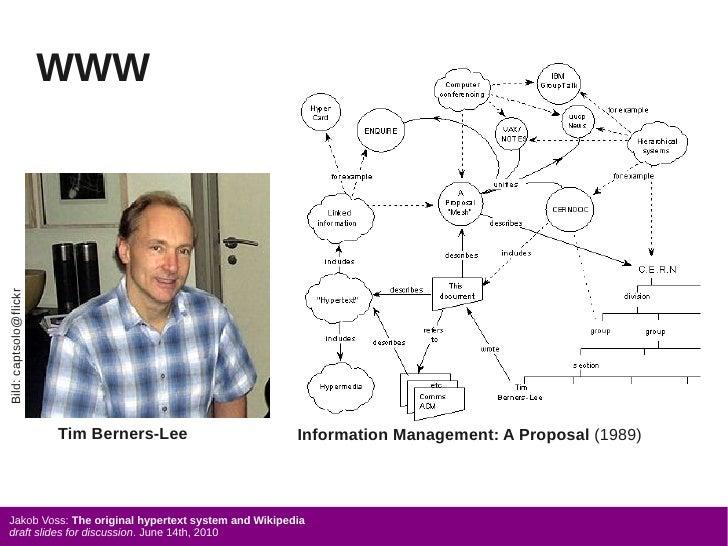 WWW Bild: captsolo@flickr                             Tim Berners-Lee               Information Management: A Proposal (19...