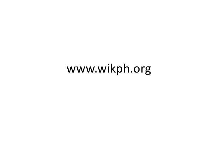 www.wikph.org<br />