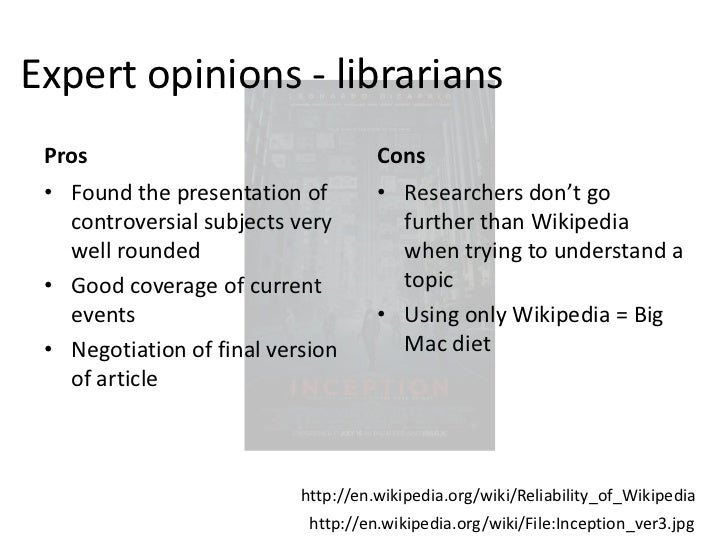 Lecture 25: Wikipedia and Reliability