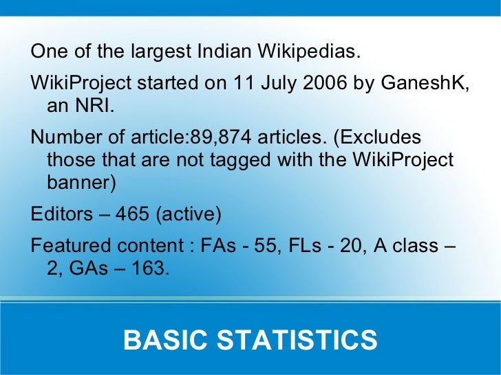Wikiproject India Report 18 Nov 2011(amended) Slide 2