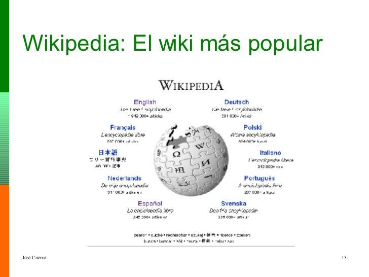 Wikipedia: El wiki más popular