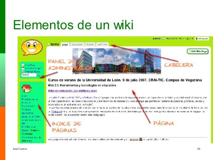 Elementos de un wiki