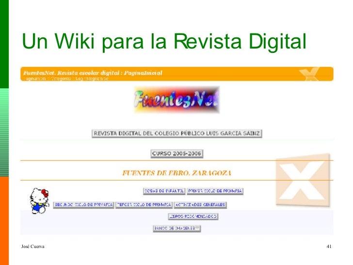 Un Wiki para la Revista Digital