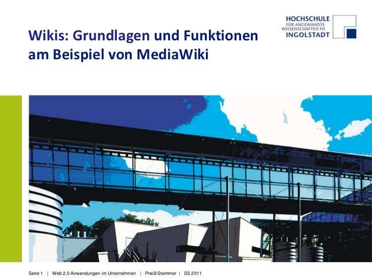 Wikis: Grundlagen und Funktionen am Beispiel von MediaWiki<br />