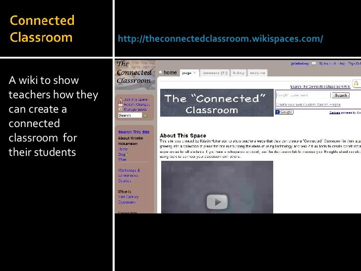 <ul><li>A wiki to show teachers how they can create a connected classroom  for their students </li></ul>Julie Lindsay | He...