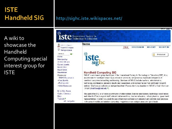 <ul><li>A wiki to showcase the Handheld Computing special interest group for ISTE </li></ul>Julie Lindsay | Head of Inform...