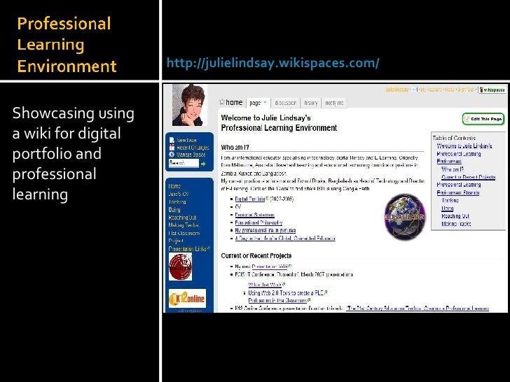 <ul><li>Showcasing using a wiki for digital portfolio and professional learning </li></ul>Julie Lindsay | Head of Informat...