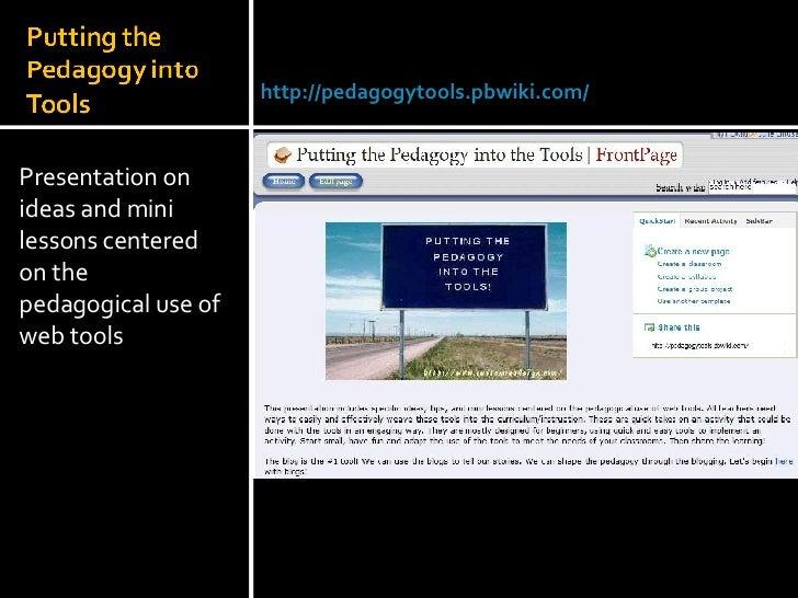 <ul><li>Presentation on ideas and mini lessons centered on the pedagogical use of web tools </li></ul>Julie Lindsay | Head...