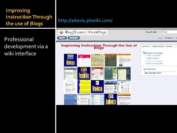 <ul><li>Professional development via a wiki interface </li></ul>Julie Lindsay | Head of Information Technology |Qatar Acad...