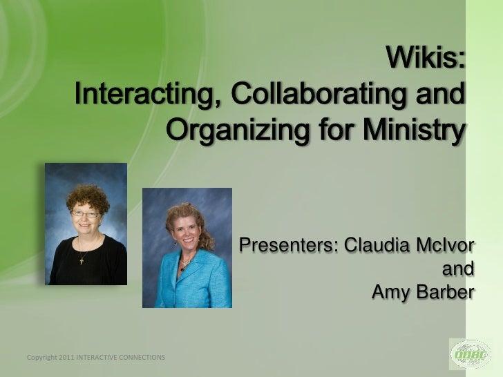 Presenters: Claudia McIvor                                                                   and                          ...