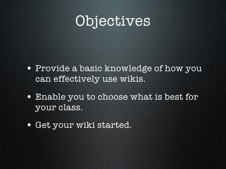 Wikis For Beginners Slide 2