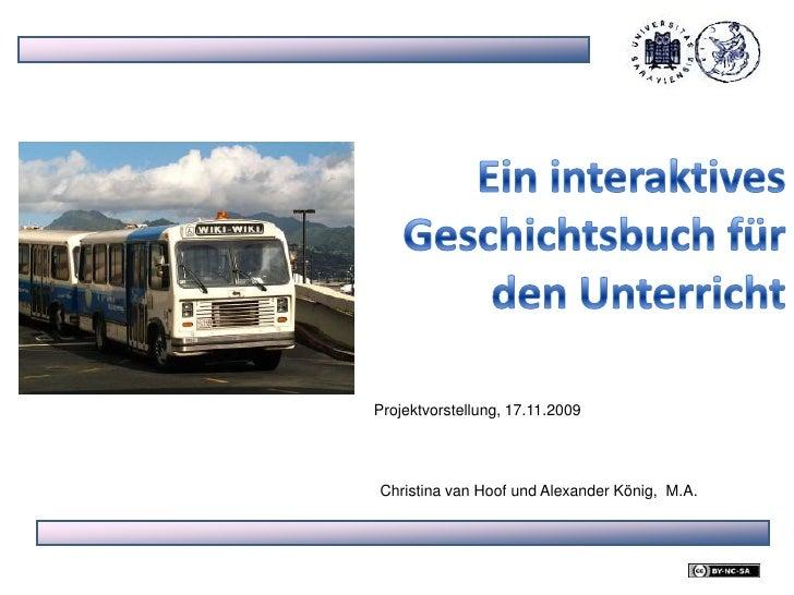 Ein interaktives Schulbuch für den Geschichtsunterricht