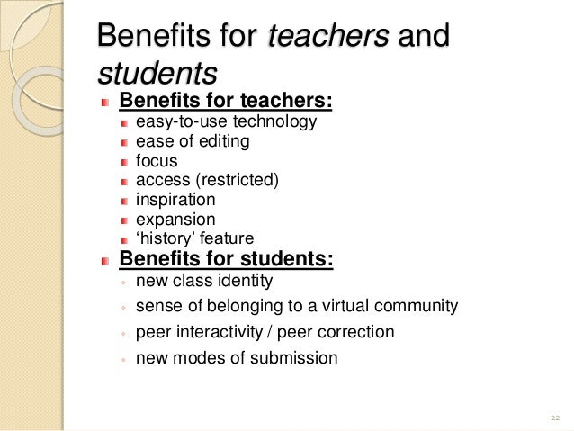 Collaborative Teaching Benefits To Students : Wikis in the efl classroom