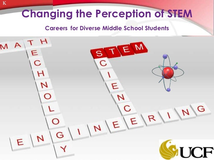 K    Changing the Perception of STEM        Careers for Diverse Middle School Students