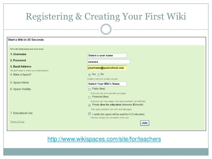 wikispaces tutorial updated rh slideshare net Wikispaces for Teachers Wikispaces Classrooms
