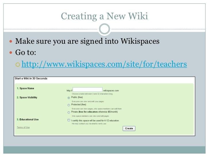 wikispaces tutorial updated rh slideshare net Running Wikispace 4Rc4d3