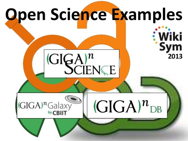 Open Science Examples 2013