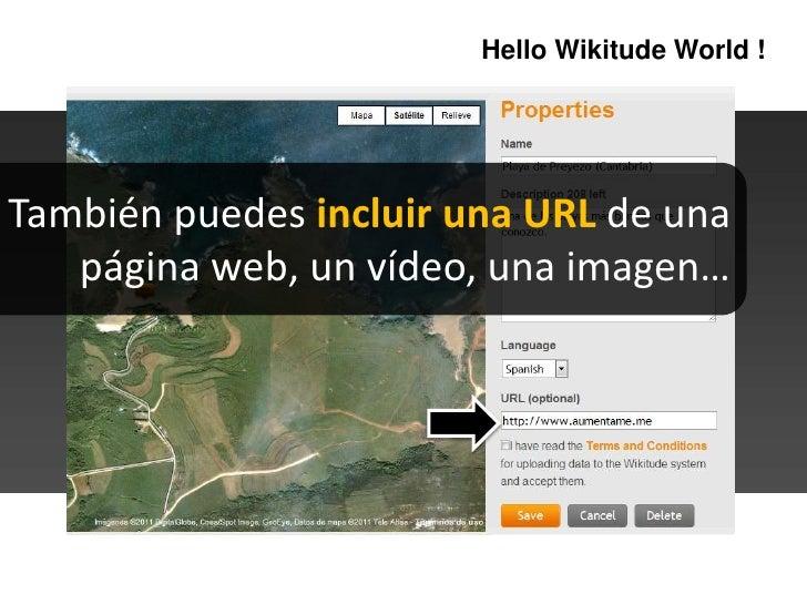 HelloWikitudeWorld !<br />También puedes incluir una URL de una página web, un vídeo, una imagen…<br />