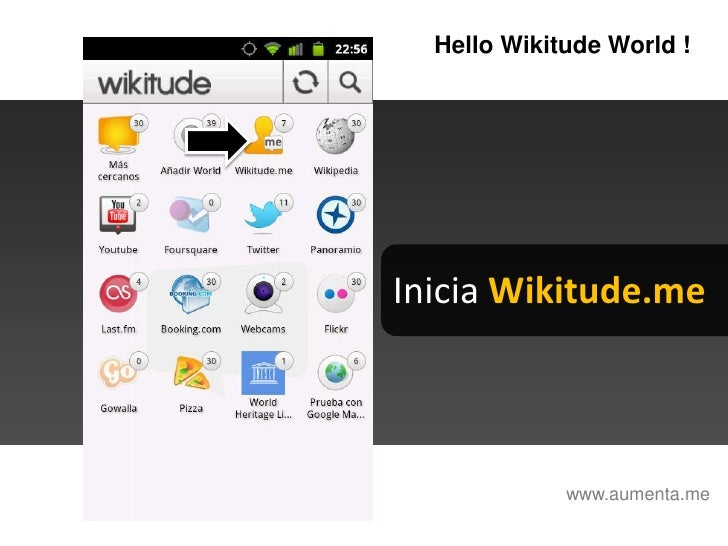 HelloWikitudeWorld !<br />Inicia Wikitude.me<br />www.aumenta.me<br />