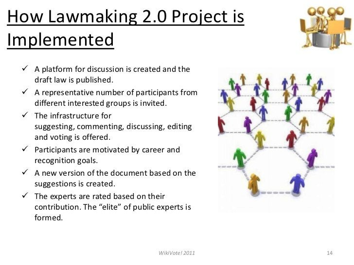 How Lawmaking 2.0 Project is Implemented<br /><ul><li>A platform for discussion is created and the draft law is published.